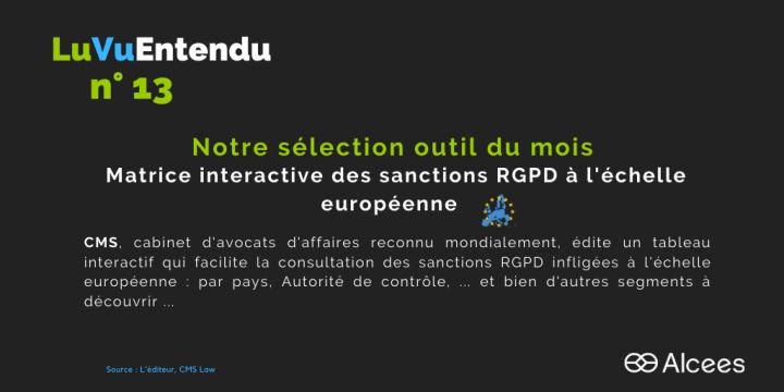 [Tendance] Tableau interactif des sanctions RGPD infligées à l'échelle européenne
