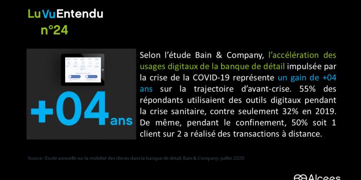 [Lu, Vu, Entendu] #24 :  Banque de détail – l'accélération des usages digitaux pendant la période de confinement dûe au COVID-19 se traduit en gain tangible