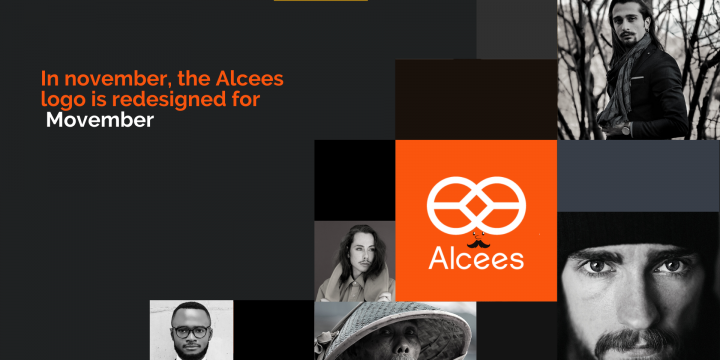 [Press release]: the Alcees logo has a mustache and orange colors for movember